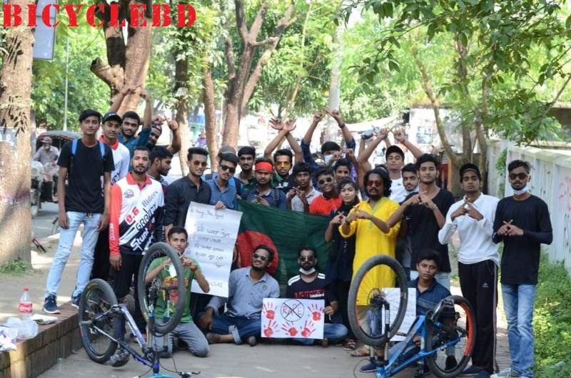 Anti-rape bicycle Rally held in Rajshahi