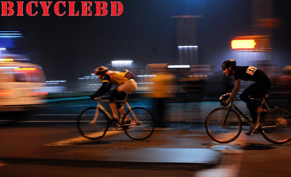 Bicycle ride at night