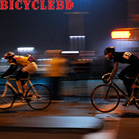 Bicycle ride at night